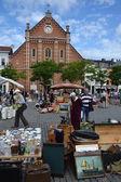 Flea market on Place du Jeu de Balle in Brussels, Belgium — Stock Photo