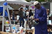 Mercado de pulgas no lugar du jeu de balle em bruxelas, bélgica — Fotografia Stock