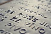 Embossed writing for blind people — Stock Photo