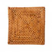 Square wicker table-mat textures — Stock Photo