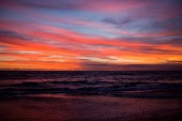 Okyanusu günbatımı gökyüzü — Stok fotoğraf