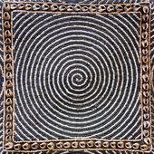 Bead woven mat texture — Stock Photo