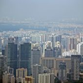 Singapore cityscape frome above — Stock Photo