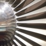 Airplane turbine blades — Stock Photo #67612899