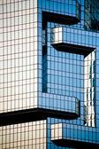 Skyscraper mirror facades — Stock Photo