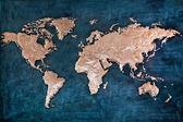 Relief of the world map — Stock Photo