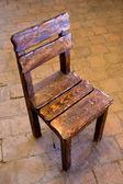 Cadeira de madeira velha — Fotografia Stock