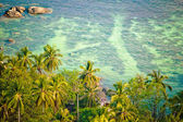Koh Tao bay aerial way — Stock Photo