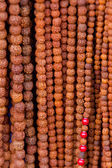 Wooden beads necklaces — Stock Photo