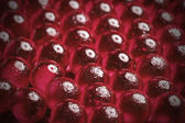 Red glass beads — Stock Photo