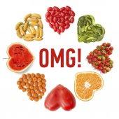 Heart-shaped fruits — Stockfoto
