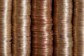 Set on each other coins — Stock Photo
