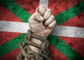 Hand, fist in chains — Stock Photo