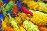 Coils multicolored threads — Stock Photo