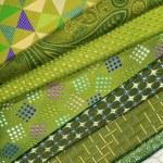 Green men's neckties — Stock Photo #70254031