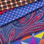 Set of multicolored neckties — Stock Photo #70256527