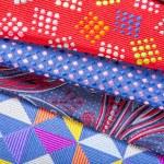 Set of multicolored neckties — Stock Photo #70256717