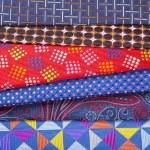 Set of multicolored neckties — Stock Photo #70257301