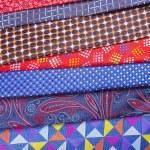 Set of multicolored neckties — Stock Photo #70257495