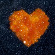 Heart of red caviar — Stock Photo #70257505