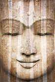 Stone Buddha face — Stock Photo
