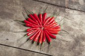 Red hot peppers — Stock Photo