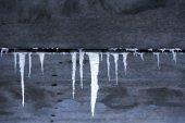 Concrete texture with icicles — Foto de Stock