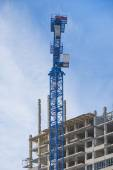 Construction of high-rise building — Stock Photo