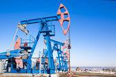 Oil pump and sky — Stok fotoğraf