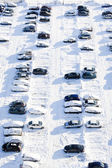 Cars covered with snow — Stock Photo