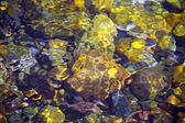 Vallende stenen in water achtergrond — Stockfoto