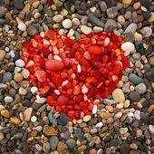 Pebble beach texture, — Stock Photo
