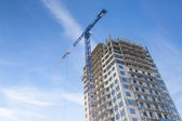Construction of high-rise residential building — Stock Photo