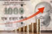 Waardering van de Indiase roepie — Stockfoto