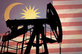 Oil pump with flag of Malaysia — Stock Photo