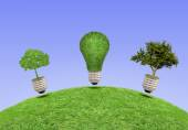 Lamp, the concept of ecology — Stock Photo