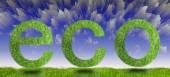 Green eco sign — Stock Photo