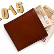 Leather wallet with money — Stock Photo #58290493