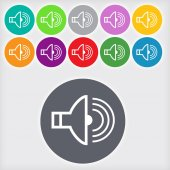 Speaker volume sign icon — Stock Photo