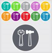Repair tool sign icon — Stock Photo
