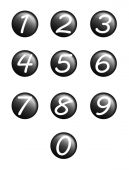 Set black buttons with numbers — Stock Photo