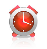 Red alarm clock isolated on white — Stock Photo