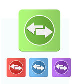 Set of colored icons with arrows left and right — Stock Photo