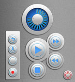 Set of the elements for media player — Stockfoto
