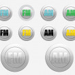 FM radio icon. AM radio icon — Stock Photo #61288035