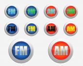 FM radio icon. AM radio icon — Stock Photo