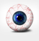 3d eye of man on white background. — Foto Stock