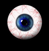 3d blue eye on black background — Foto Stock