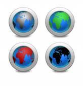 Illustration Earth globe set — Stock Photo