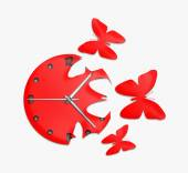 Red clock with arrows — Stock Photo